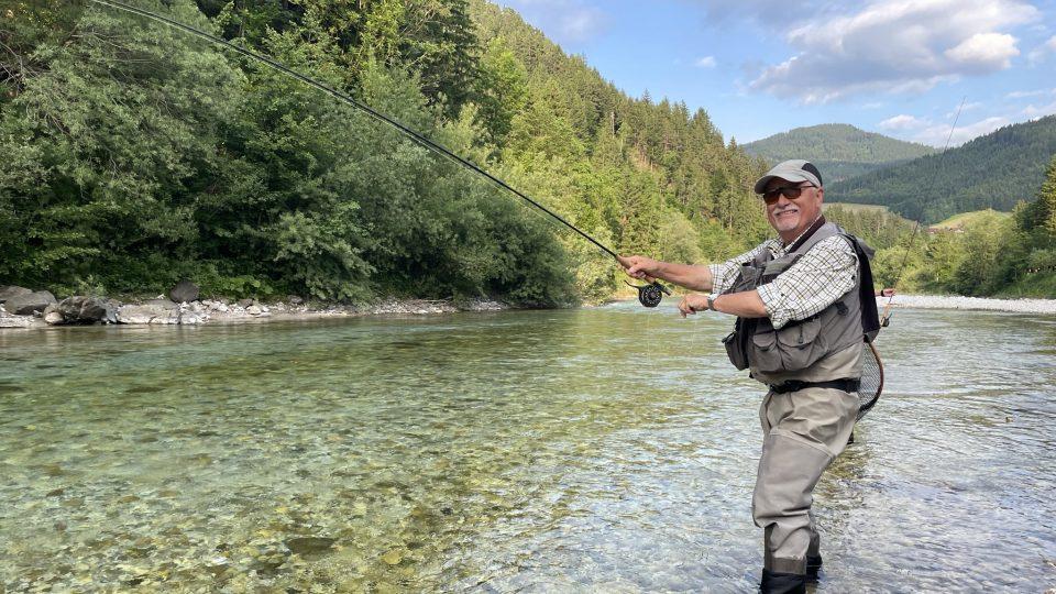 Claude Fabrin jezdí rybařit do okolí slovinského města Luče