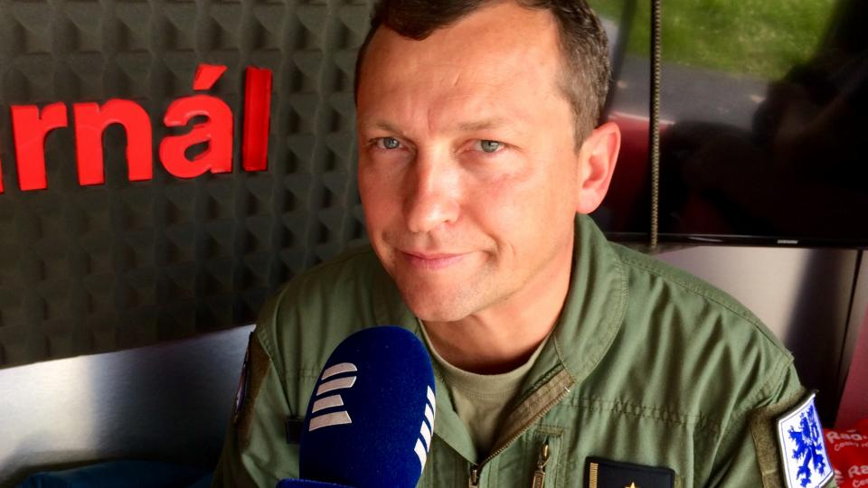 Kapitán Jiří Čermák, pilot JAS-39 Gripen 211. taktické letky Čáslav
