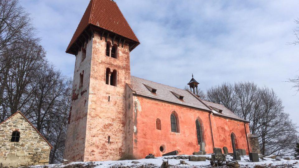 Kostel v bývalém vojenském újezdu Boletice