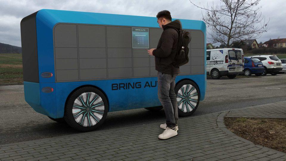 Vizualizace možné podoby start-upu Bring Auto z blízké budoucnosti