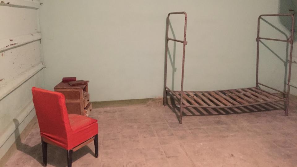 Pokoj prvního tajemníka městského výboru Komunistické strany Albánie