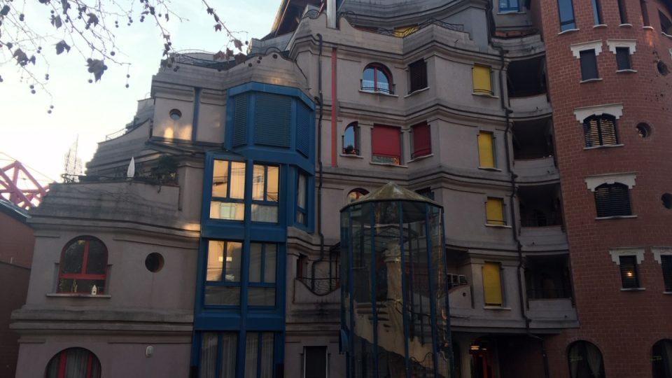 Šmoulí domy v Ženevě