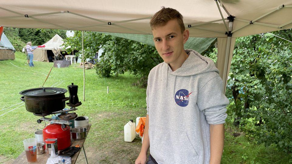 Vojtěch Petrásek, student oboru kybernetika a robotika, je na táboře už potřetí