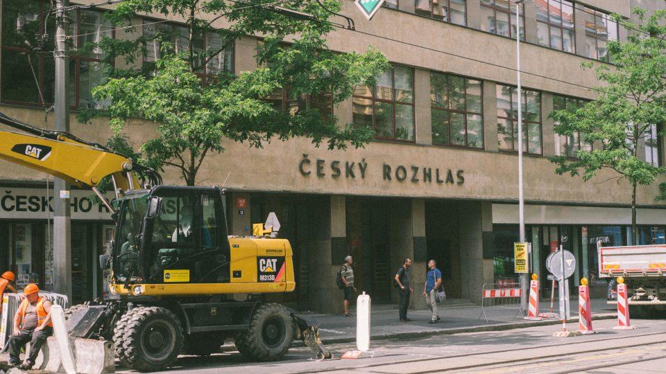 Vinohradská 12, budova Českého rozhlasu v roce 2018