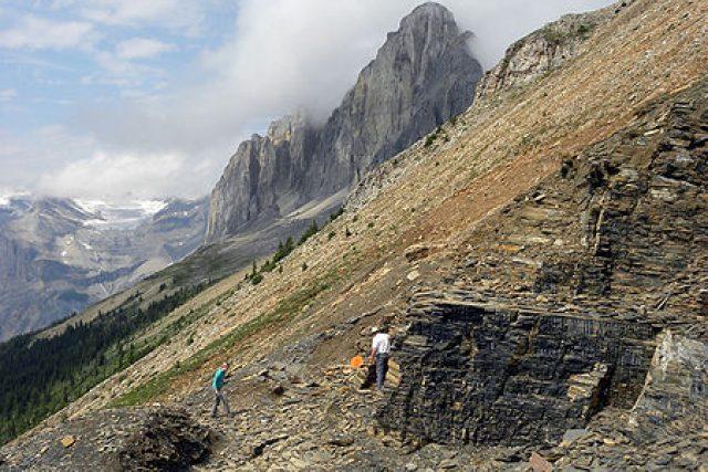 Walcottovo naleziště kambrické fauny v Burgess, Britské Kolumbii, Kanada.