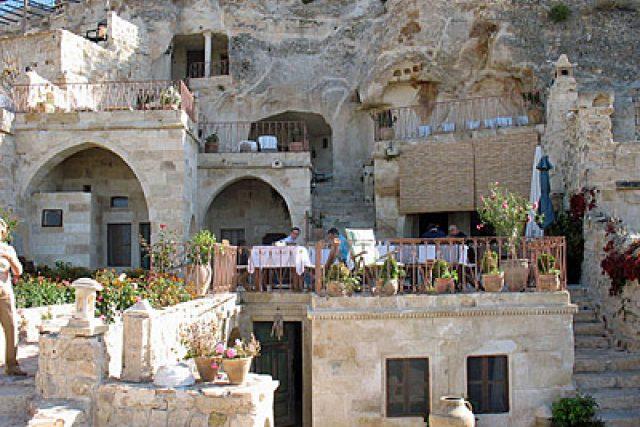 Jeskynní hotel v tureckém Göreme