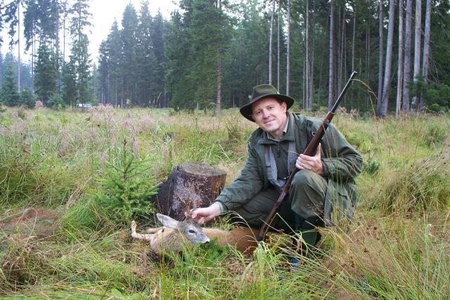 Martin Horálek na lovu