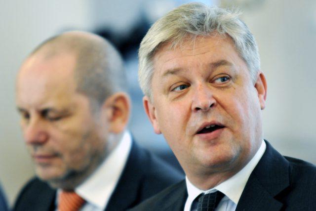 Národní ekonomická rada vlády NERV,  Miroslav Zámečník a Michal Mejstřík. | foto: Filip Jandourek,  Český rozhlas