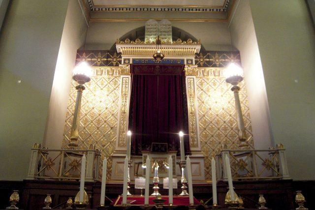 Kodaňská synagoga, která pochází z roku 1833, leží v centru města v ulici Křišťálová