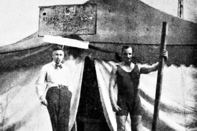 Vysílací stan Radiojournalu v Kbelích v roce 1923 | foto: Archivní a programové fondy Českého rozhlasu