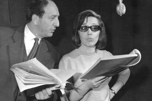 Jirásková-Brousek-natáčení hry Kořeny zla 1965
