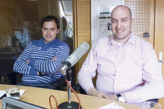 Filip Sajler a Ondřej Slanina,  to jsou Kluci v akci | foto: Milan Kosina,  Český rozhlas