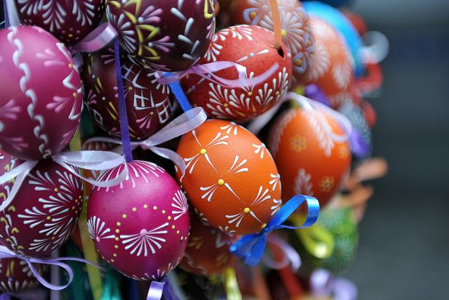 Velikonoce, kraslice, malované vejce