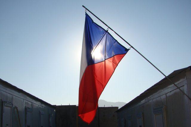 Česká vlajka v Afghánistánu (ilustrační foto)