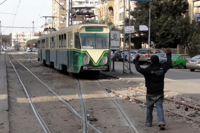 Symbolické rozloučení s travamjemi v káhirských ulicích