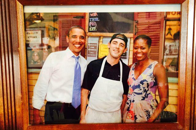 Restauraci navštívil i americký prezident Barack Obama s manželkou Michelle