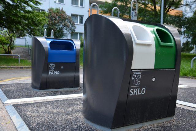 Popelnice, odpadky, podzemní kontejnery, tříděný odpad (ilustrační foto)