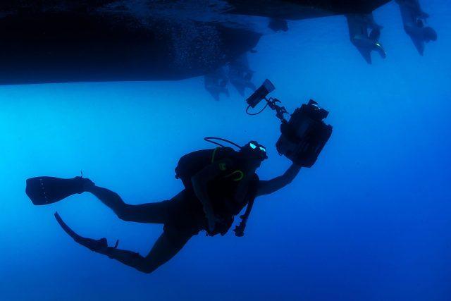 potápěč (ilustr. obrázek)