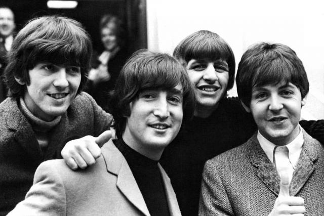 George Harrison, John Lennon, Ringo Starr a Paul McCartney