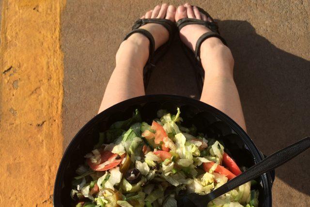zelenina, zeleninový salát