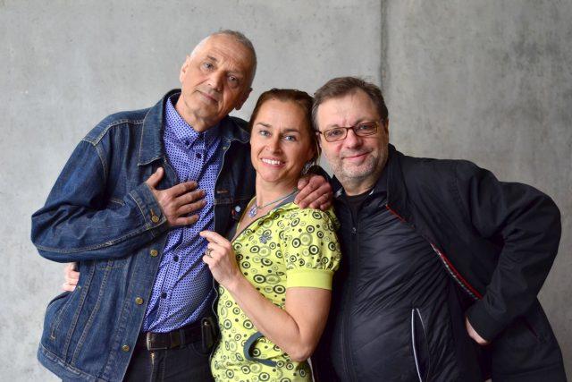 David Vávra,  Lucie Výborná,  Milan Šteindler   foto: Miloslav Hamřík,  Český rozhlas
