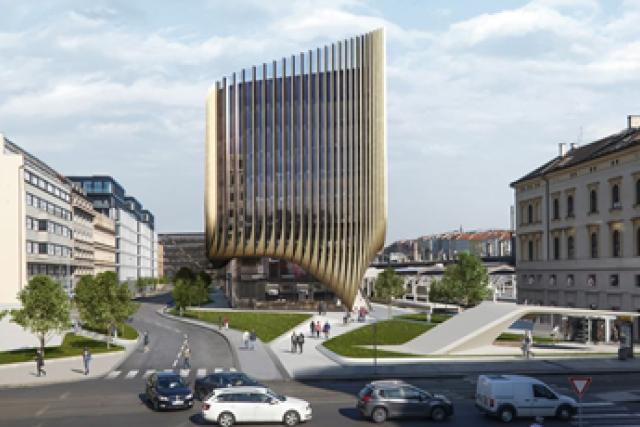 Vizualizace Central Business Districtu kolem Masarykova nádraží