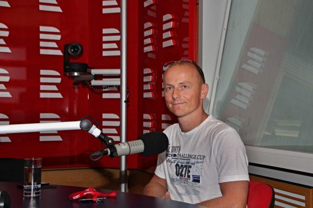 Martin Zajac odpovídal na otázky moderátorky Lucie Výborné | foto: Prokop Havel,  Český rozhlas