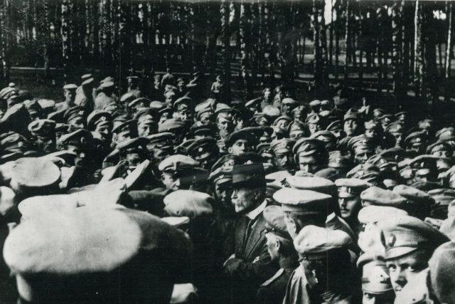 T. G. Masaryk mezi legionáři v Bělorusku, 1917