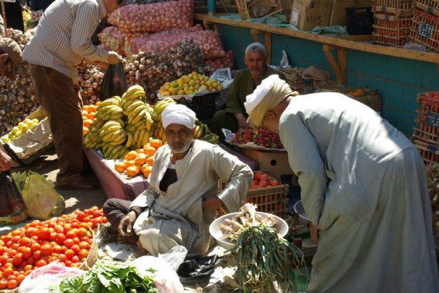 Tržiště v Luxoru