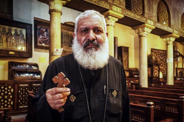 Koptský kněz v Egyptě