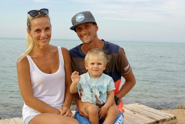 Lukáš Vogeltanz s manželkou Andreou a synem jsou v Egyptě šťastní