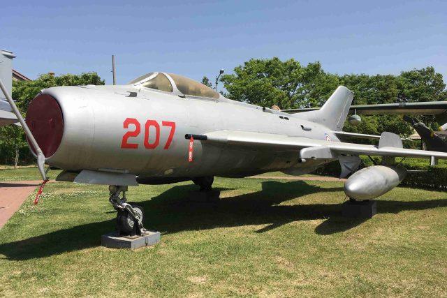 Venkovní expozice představuje letadla, která bojovala v korejské válce