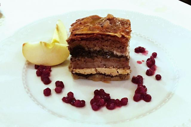 Prekmurska gibanica - tradiční slovinský dezert