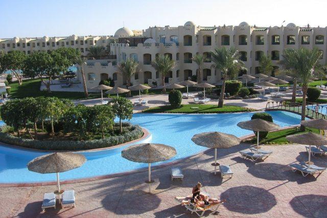 Hotelový resort v egyptské Hurghadě