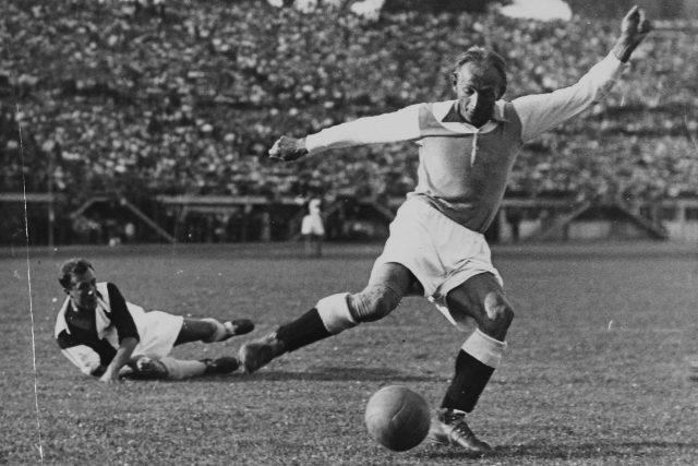 Rakouská fotbalová legenda Matthias Sindelar