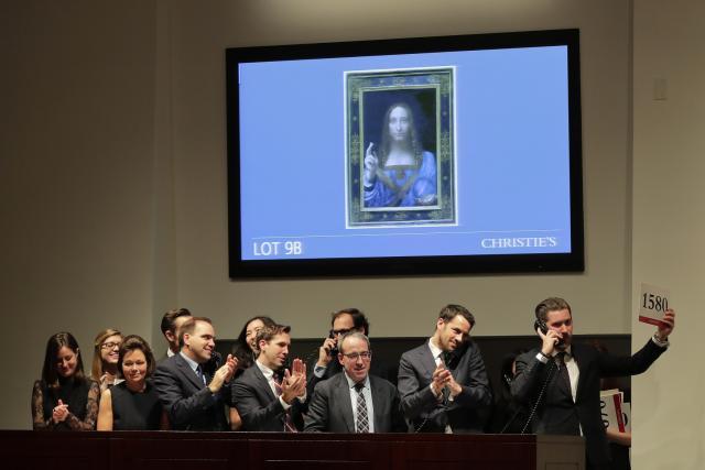 Da Vinciho obraz Spasitel světa se prodal v New Yorku skoro za 10 miliard korun