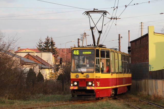 Polská tramvajová linka č. 46 mezi Lodží a Ozorkówem jezdila 96 let