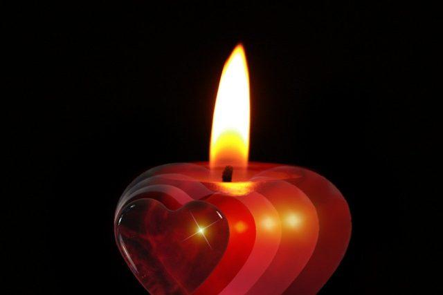 Vánoce, advent, svíčka, srdce