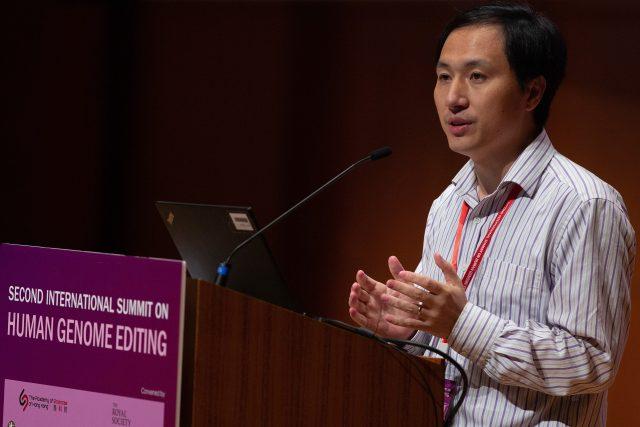 He Jiankui na snímku z listopadu 2018