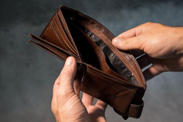 Nedostatek peněz (ilustrační foto)
