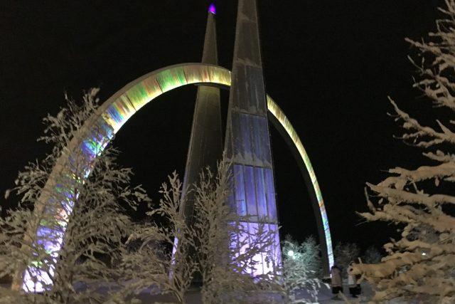 Symbol polárního kruhu na ruském Jamalu
