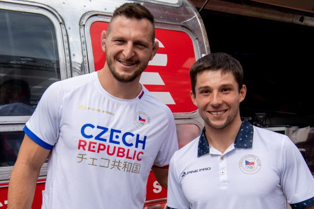 Lukáš Krpálek a Jiří Prskavec | foto: Khalil Baalbaki,  Český rozhlas