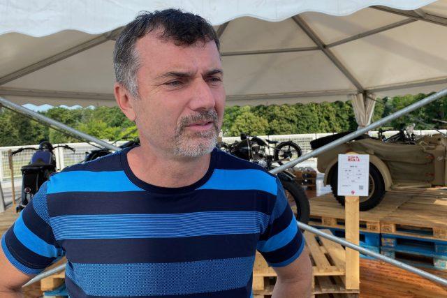 Radek Uhlíř na výstavě Veteran Mania | foto: Tomáš Černý,  Český rozhlas
