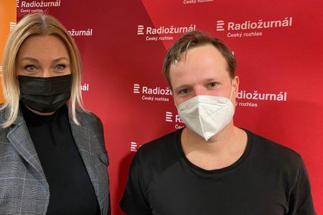 Patricie Strouhalová a Kryštof Hádek během rozhovoru
