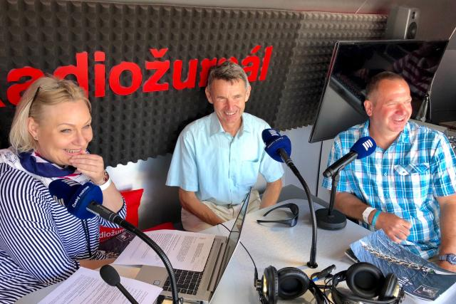 Vladimír Burda a Radek Štovíček - Hosté Radiožurnálu | foto: Český rozhlas Radiožurnál