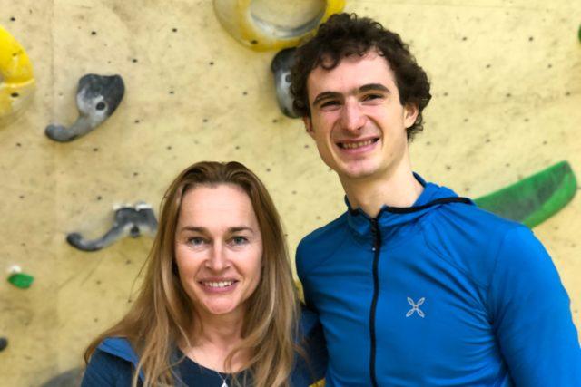 Adam Ondra s moderátorkou Lucií Výbornou
