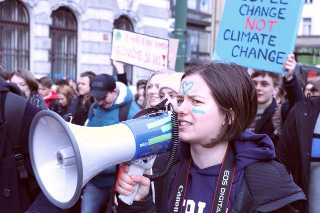 Studentská klimatická stávka Fridays for Future v Praze | foto: Matěj Schneider,  Český rozhlas,  Český rozhlas