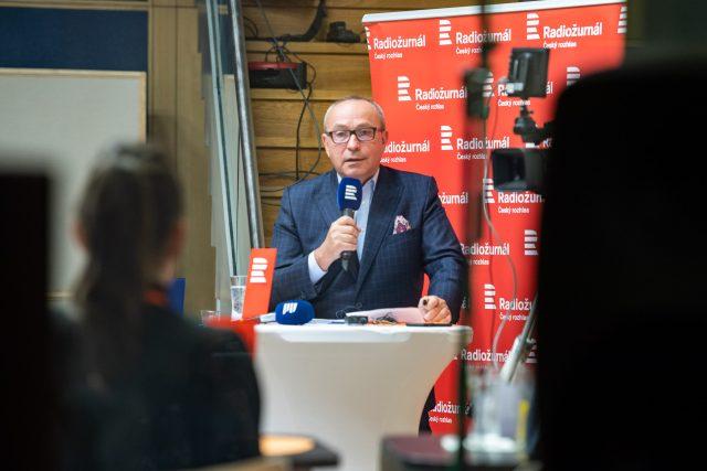 Jan Pokorný během předvolební debaty