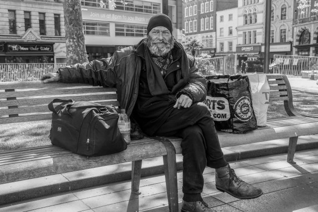 Bezdomovec v Londýně