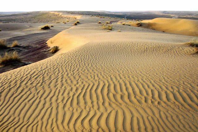 Poušť v Turkmenistánu